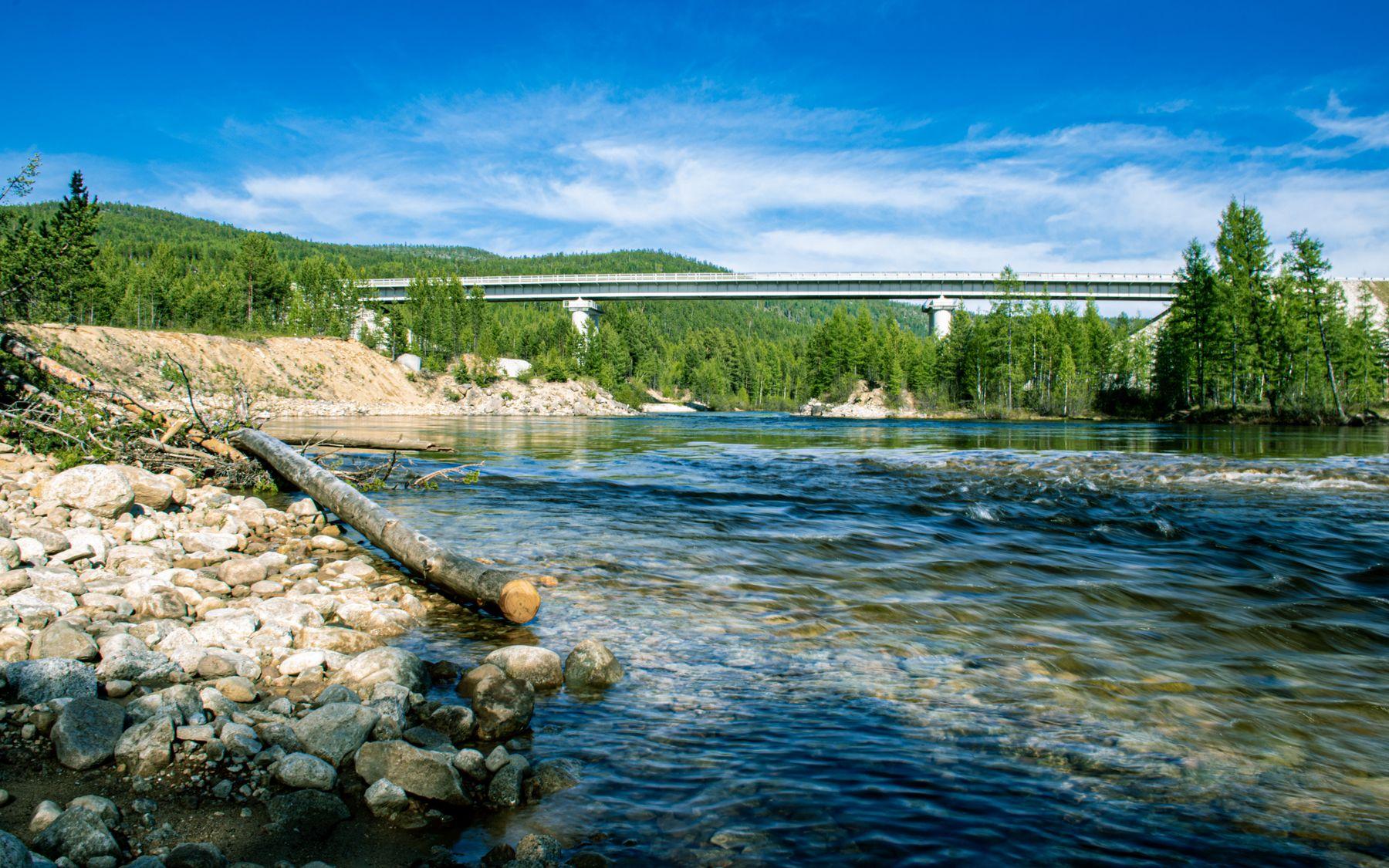 мост через р. Тельмама