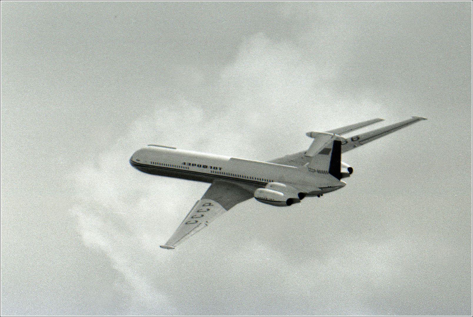 Ил-62 Ил-62 авиация самолет полёт Домодедово 1967