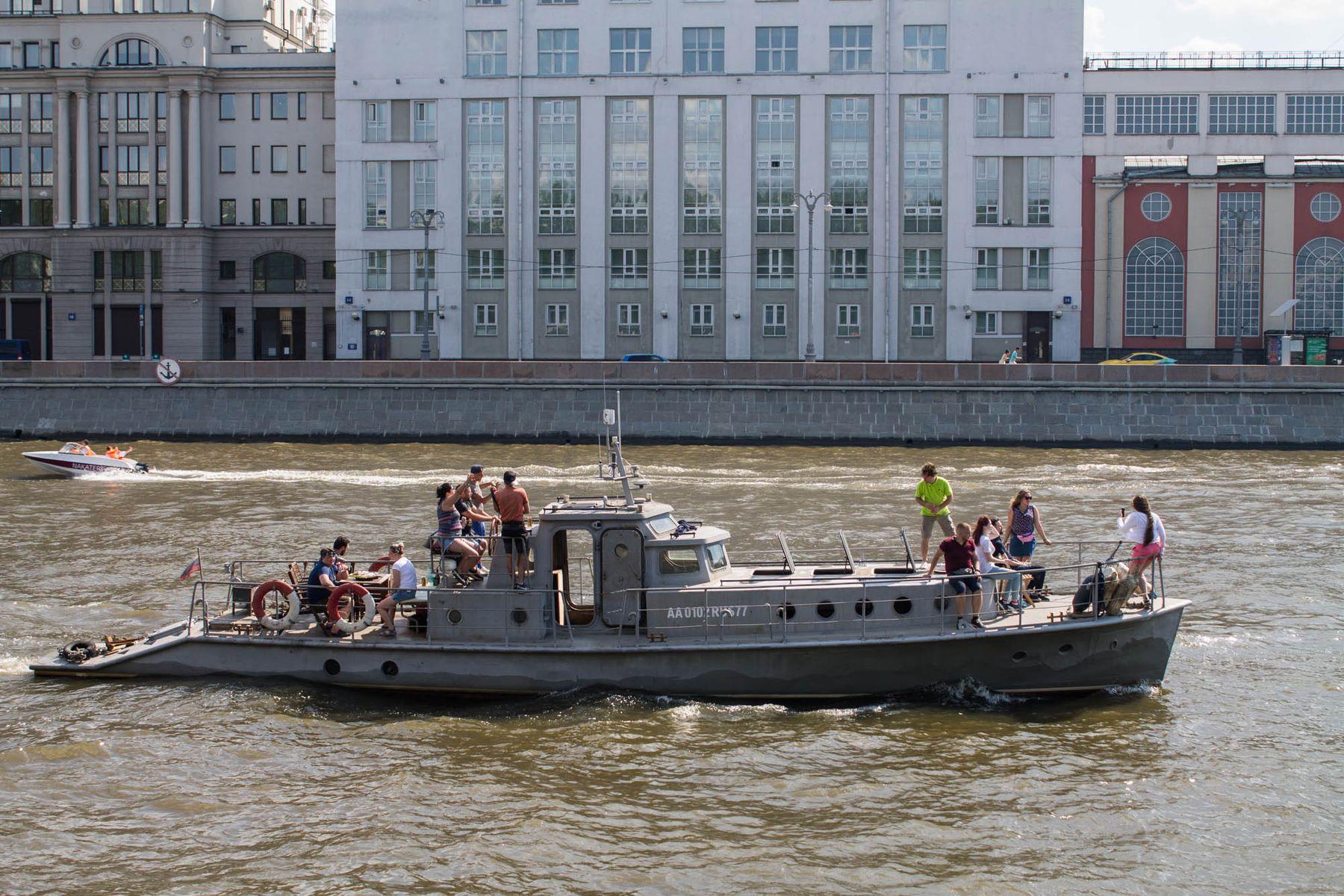 сезон открыт Москва река канал