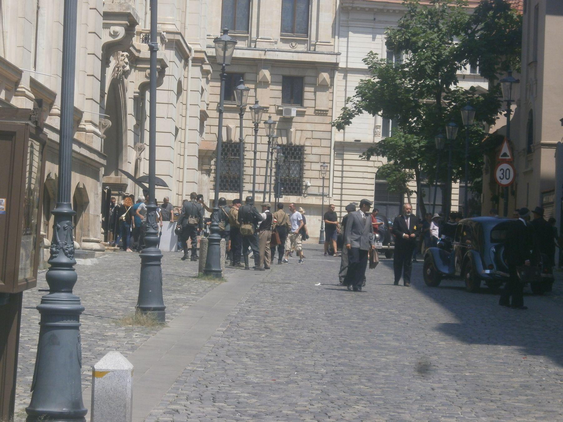 Снимается кино. Бухарест, Румыния. кино Бухарест Румыния