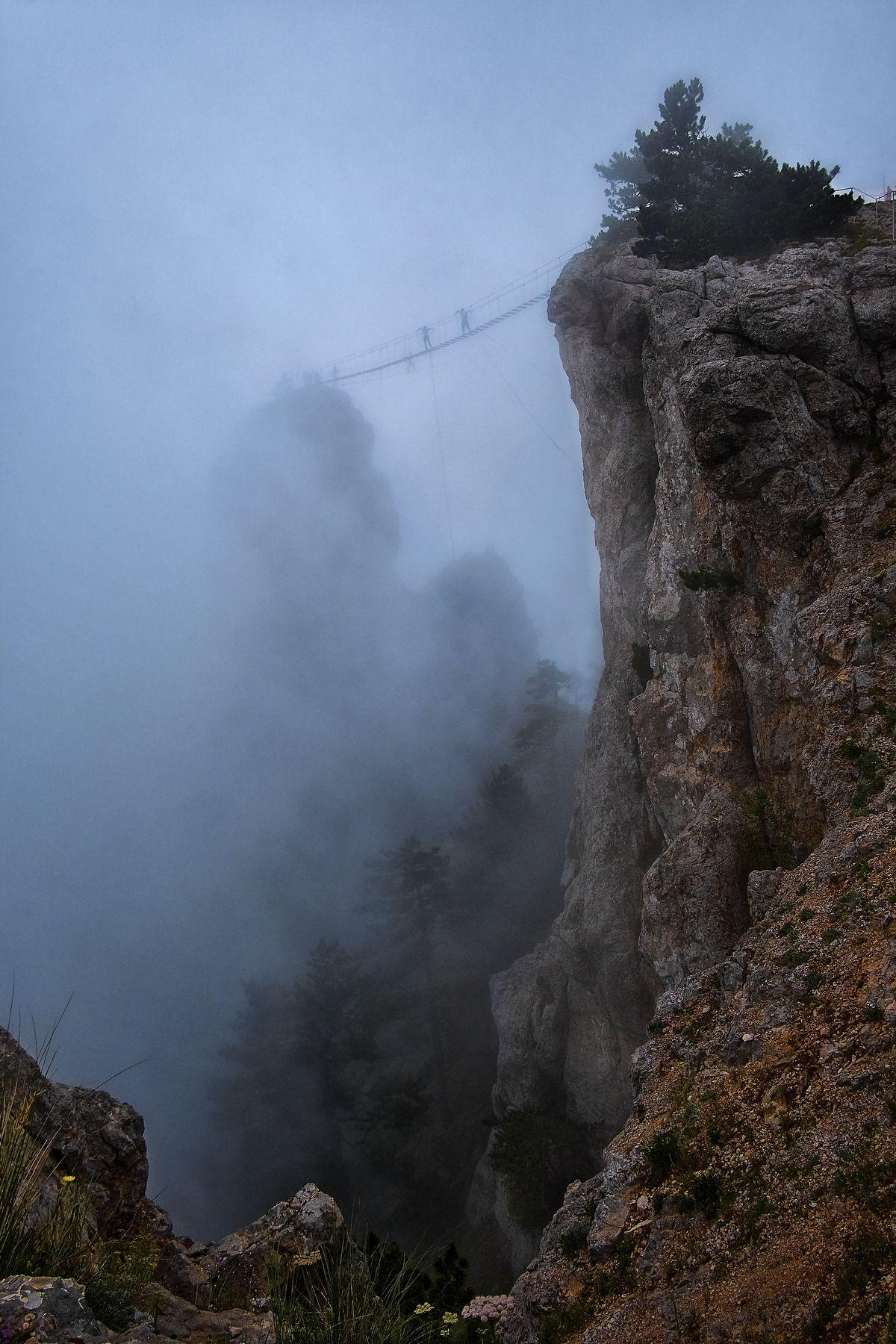 Лестница в небо (Stairway to heaven - по мотивам Led Zeppelin) скалы силуэты людей туман пропасть