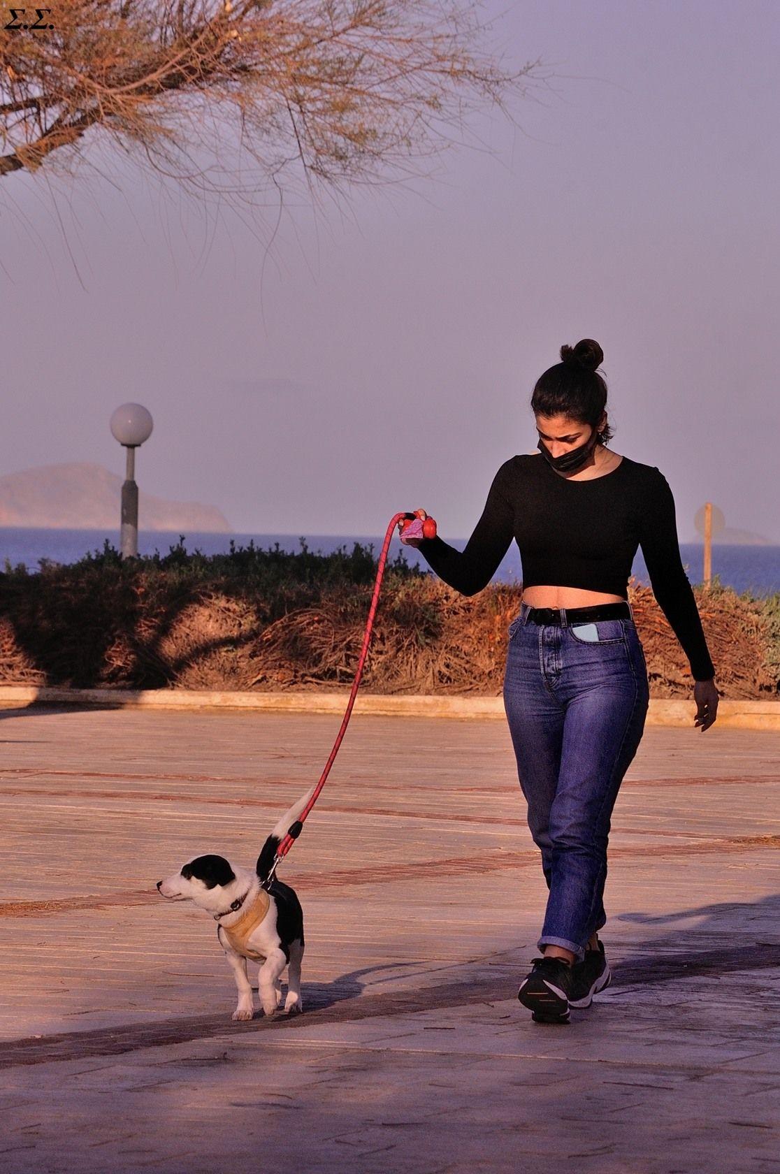 GIRLD AND DOG