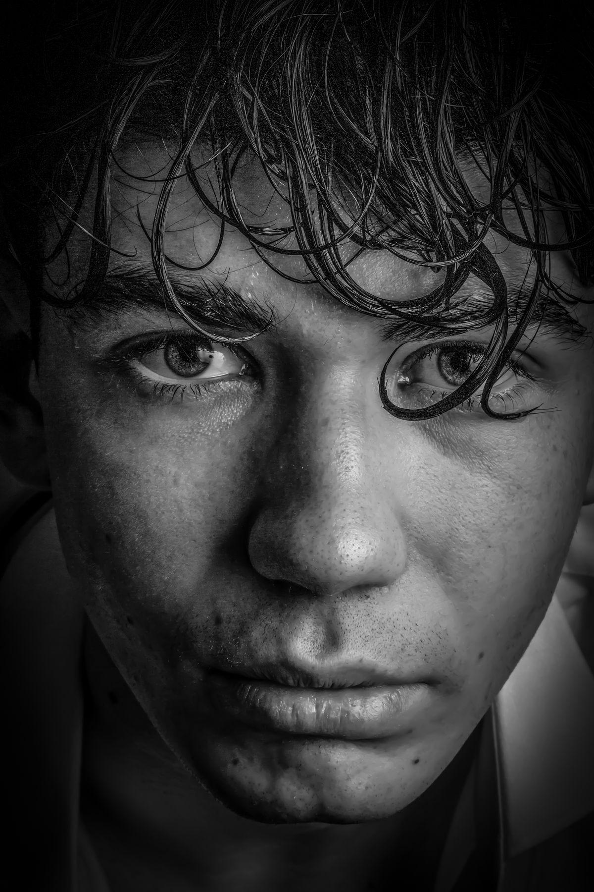 Портрет портрет чб низкий ключ