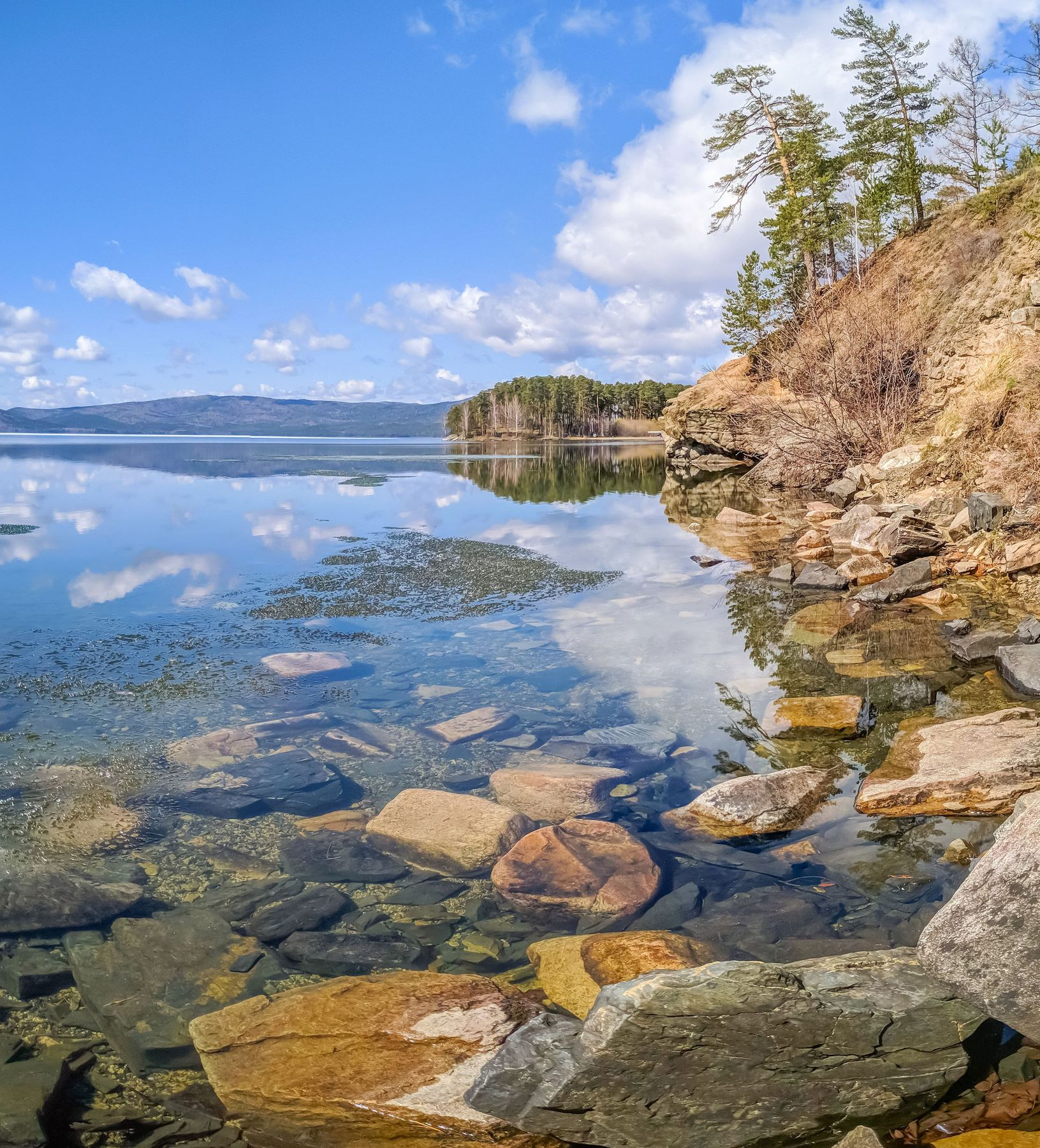 Майское утро на озере Тургояк. Южный Урал Миасс Тургояк природа лес весна Май