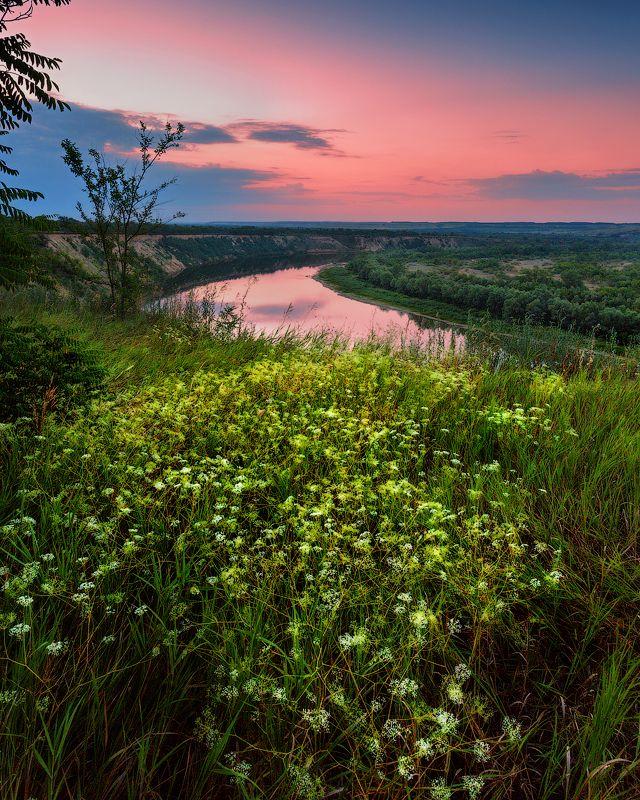 Восход на Лебяжьем яре Ростовская область Шолоховский район Дон