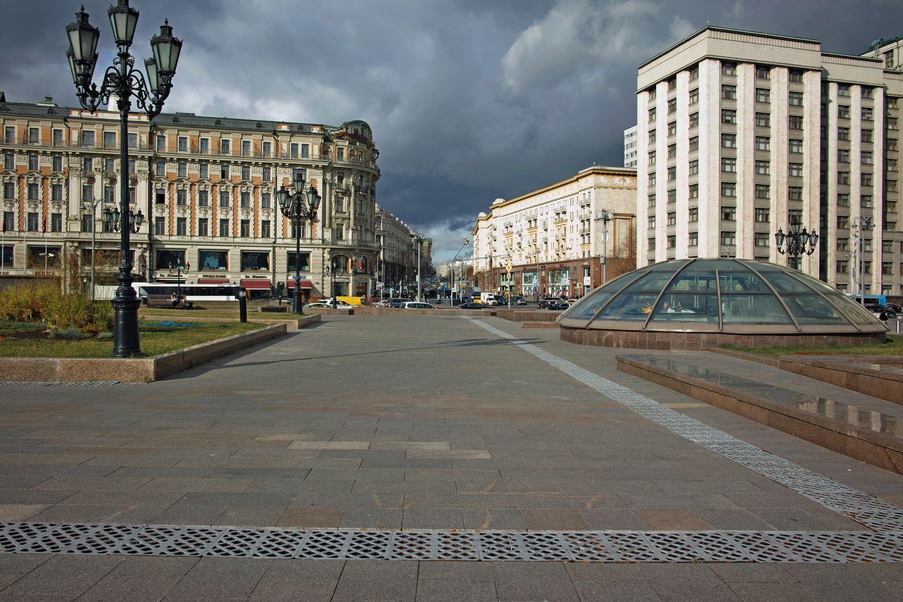 Манежная площадь город Москва площадь Манежная