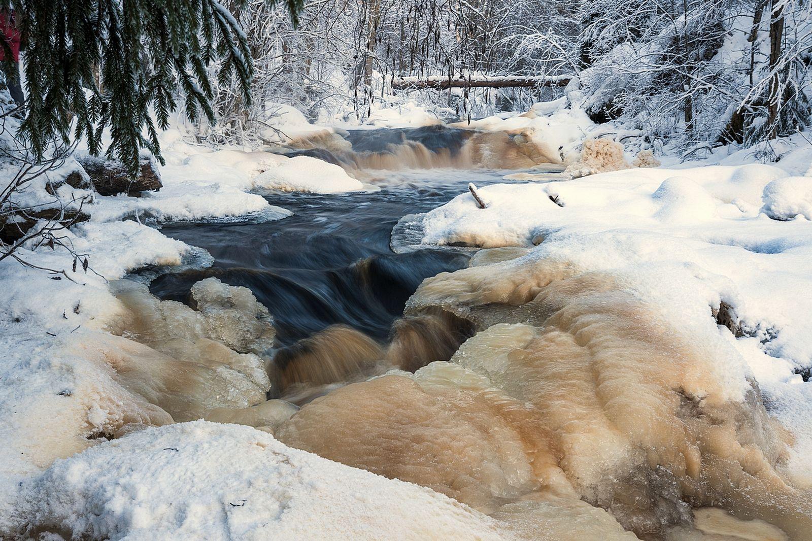 Река Тохмайоки. Карелия. Река Тохмайоки Карелия Зима