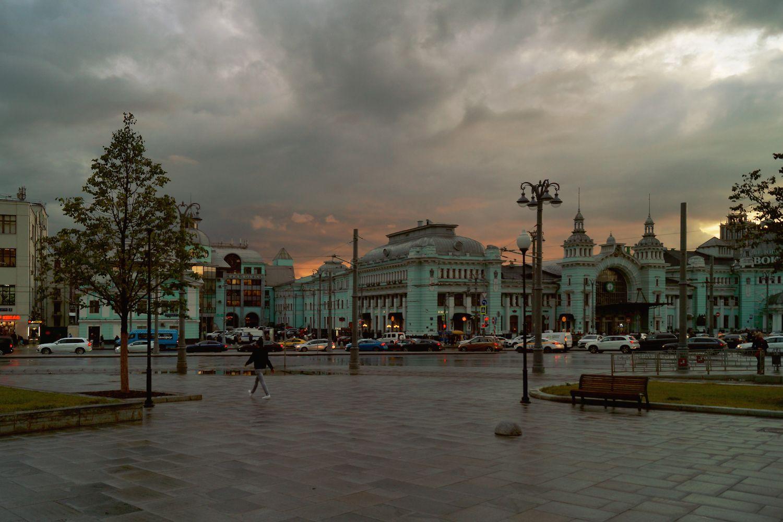 После дождя. Московские зарисовки Москва вечер закат после дождя