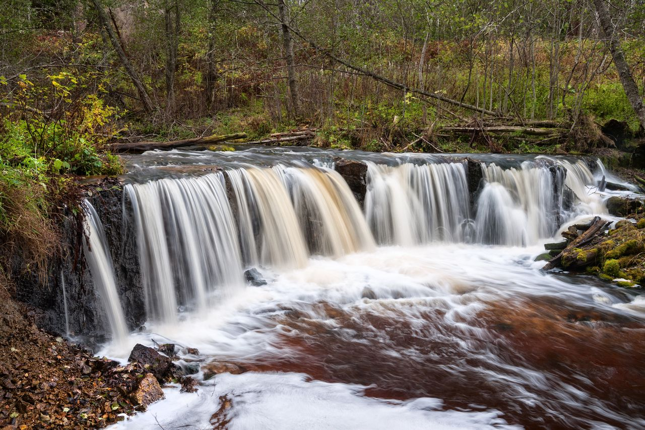 Водопад на реке Белая Река Белая водопад на реке Новгородская область водопады Новгородской области