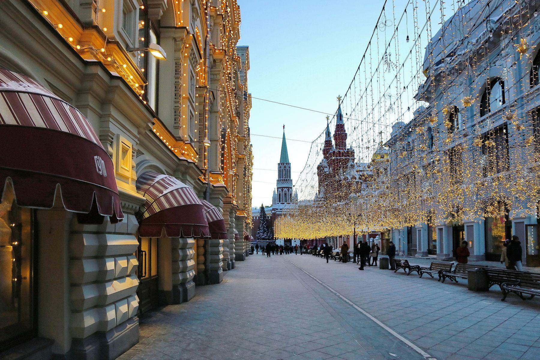 ***  на Никольской вечер наступает... Москва Никольская вечер прогулки
