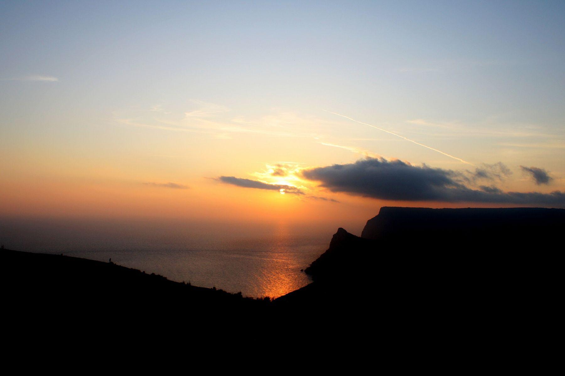 ***** закат море балаклава аязьма