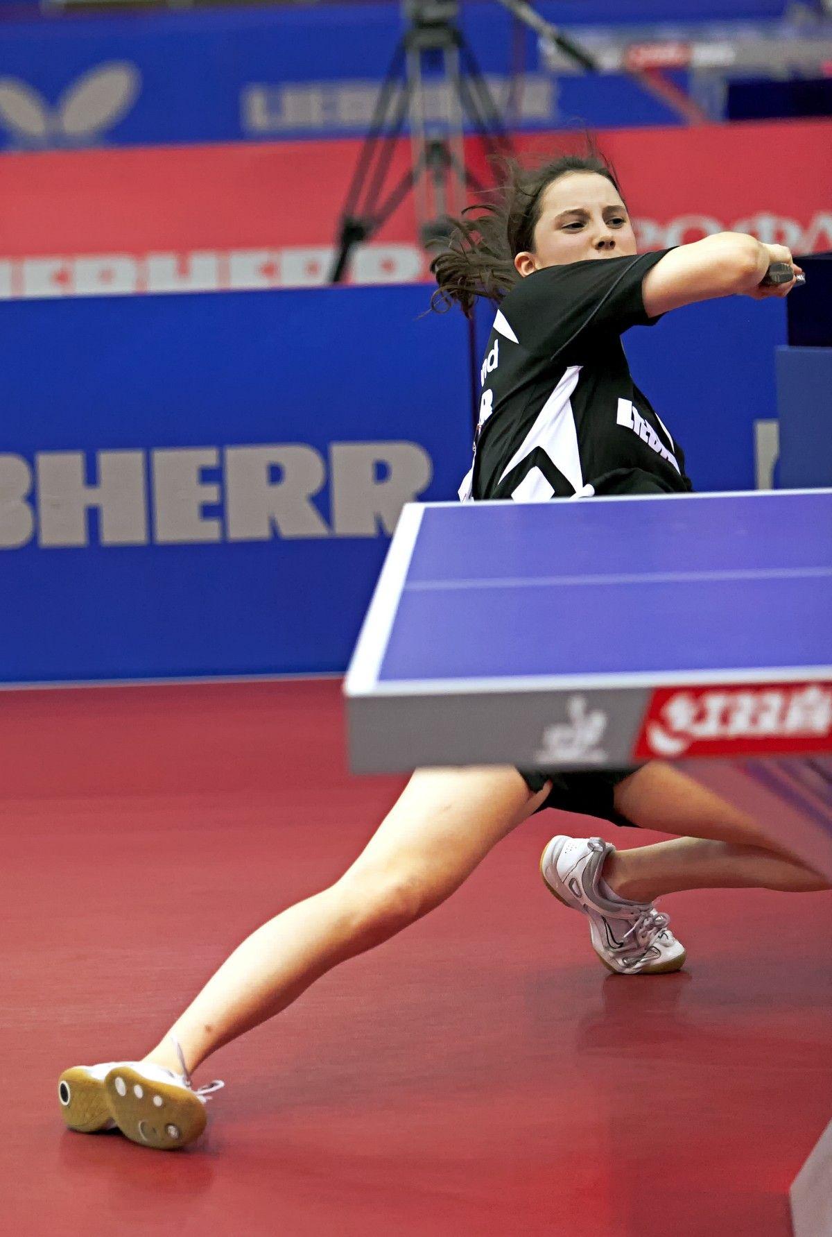 Сабина Винтер, Германия. настольный теннис пинг-понг спорт table tennis ping-pong sport girl
