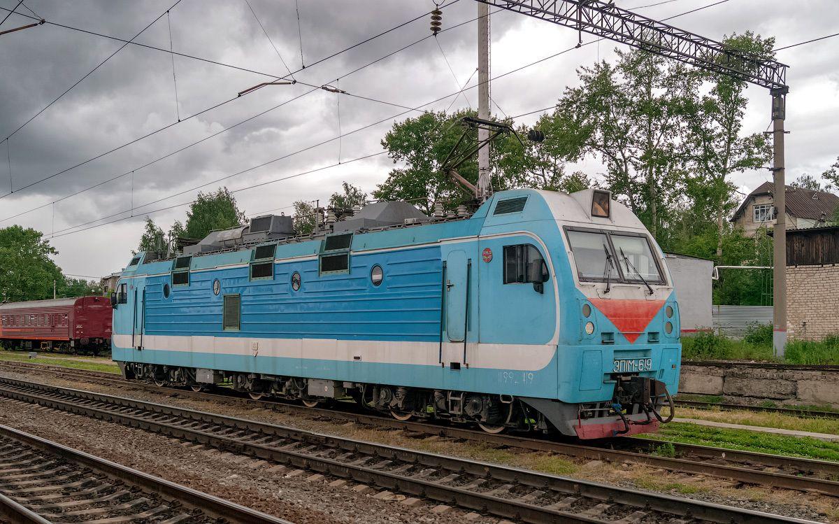 ЭП1М-619 ЭП1М-619 шарья сев сжд жд транссиб станция локомотив транспорт электровоз