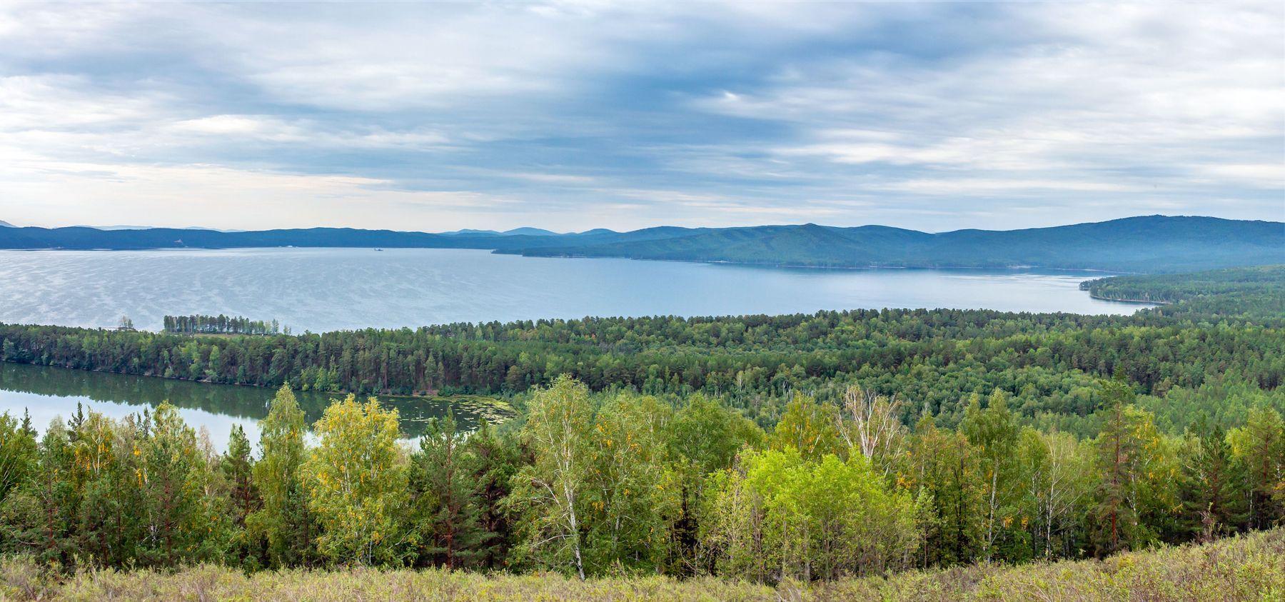 Озеро Тургояк. (панорама) Южный Урал Миасс Тургояк природа озеро лето