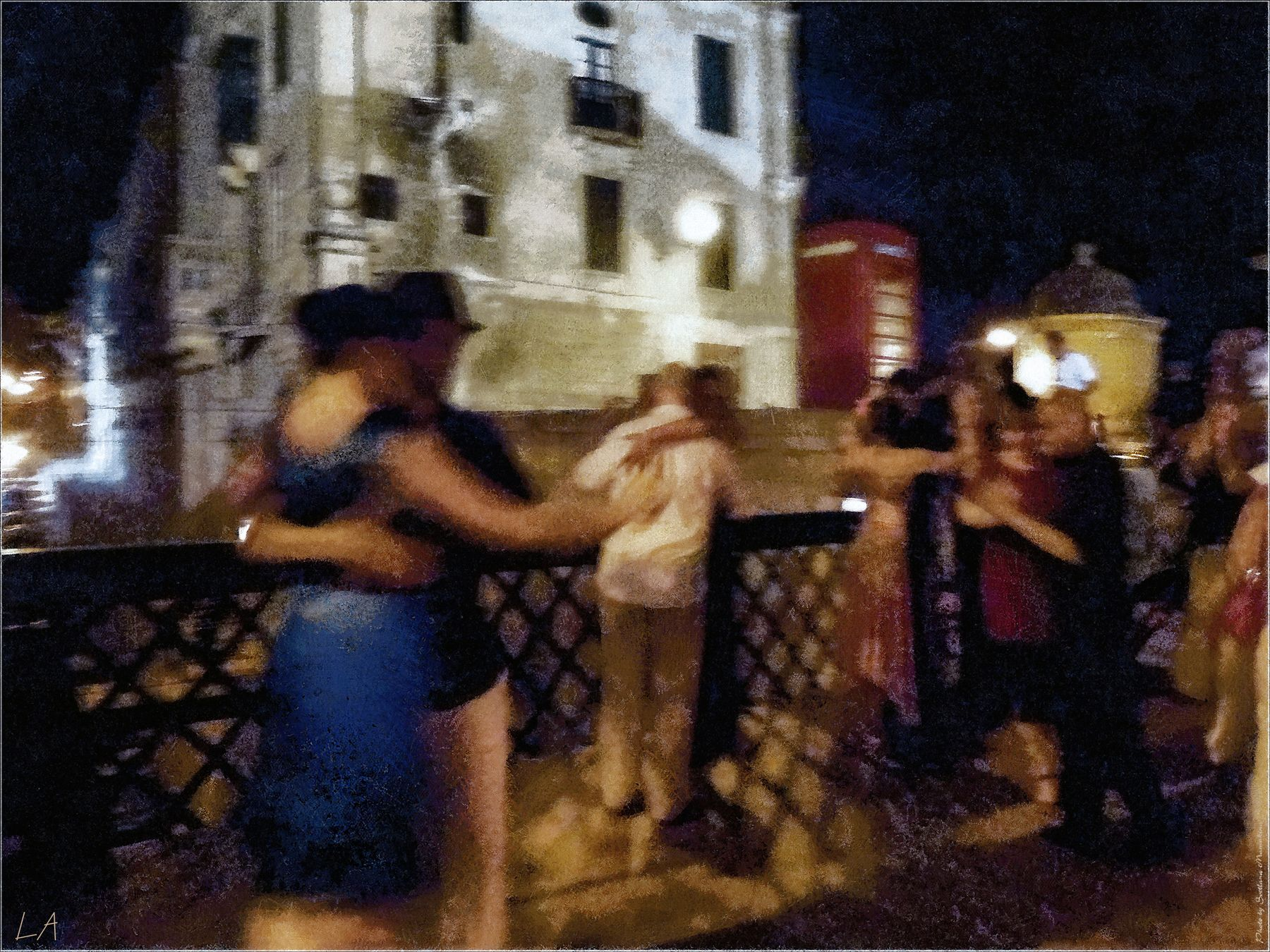 *Ночные танцы в Валетте* фотография путешествие Мальта Валетта праздник Ноте Бьянка танцы ночь осень жанр Фото.Сайт Светлана Мамакина Lihgra Adventure