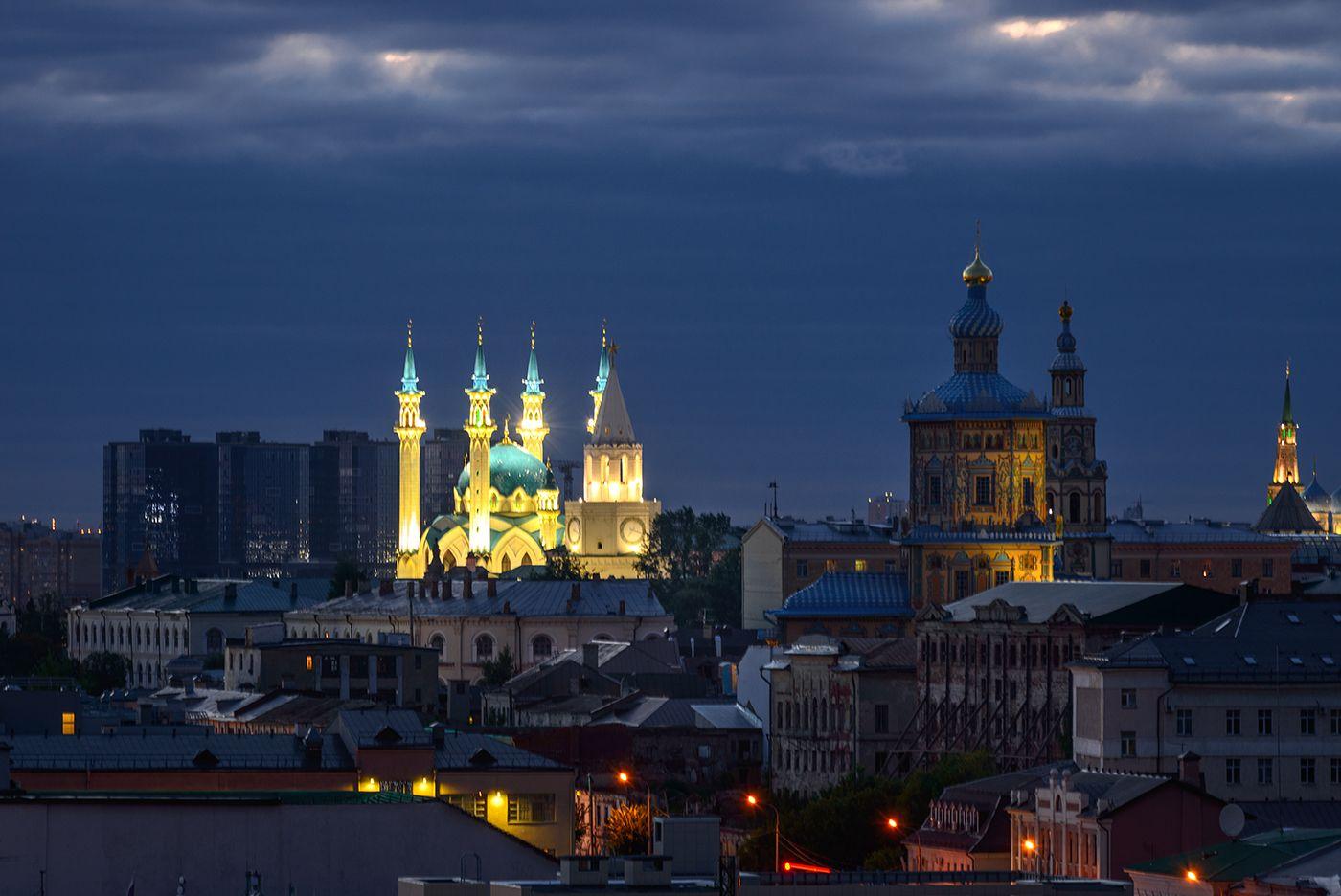 Казанский кремль... Город ночь Казань