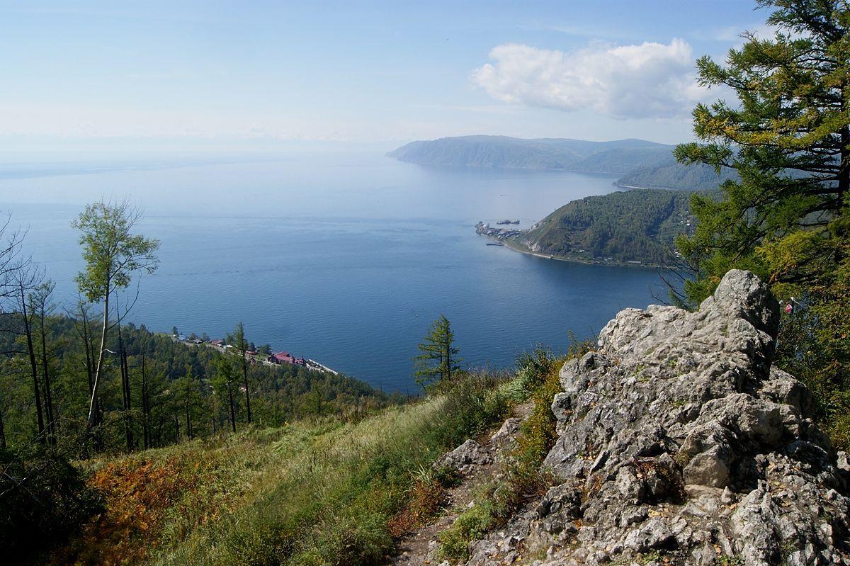 Байкал с камня Черского Байкал Листвянка Сибирь озеро