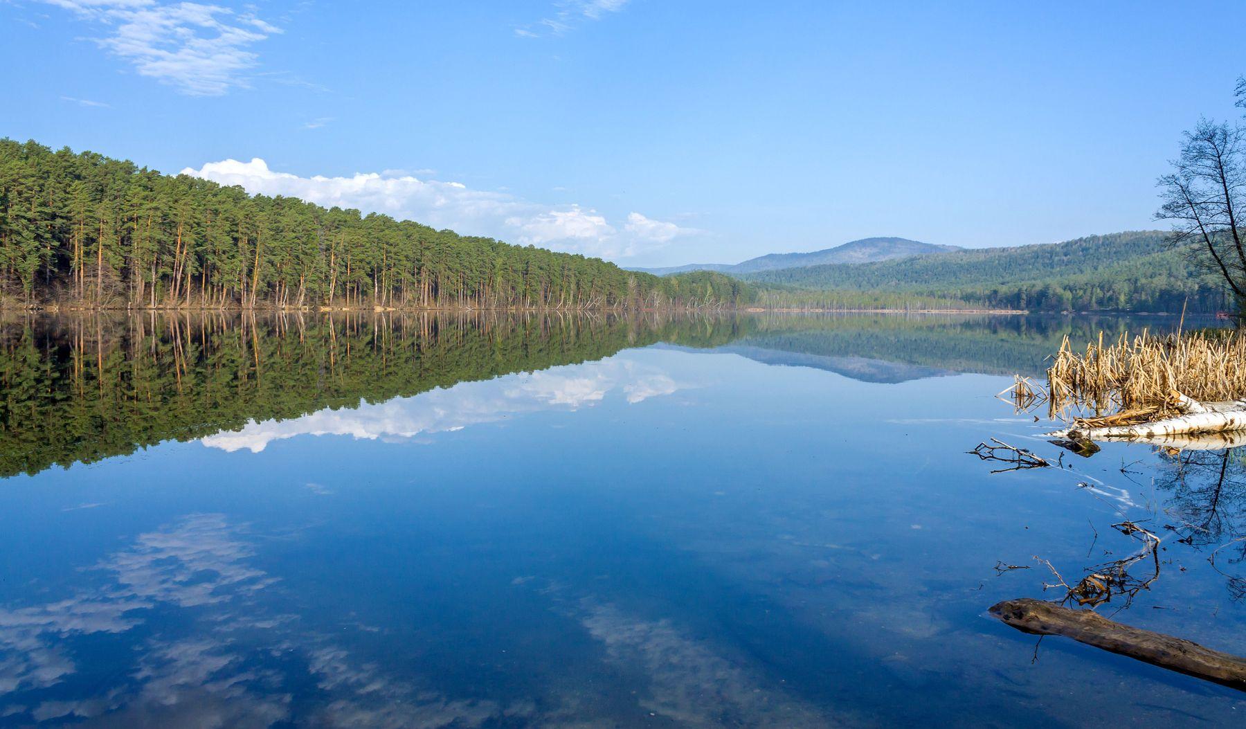 Утро на озеро Инышко Южный Урал Миасс Инышко весна