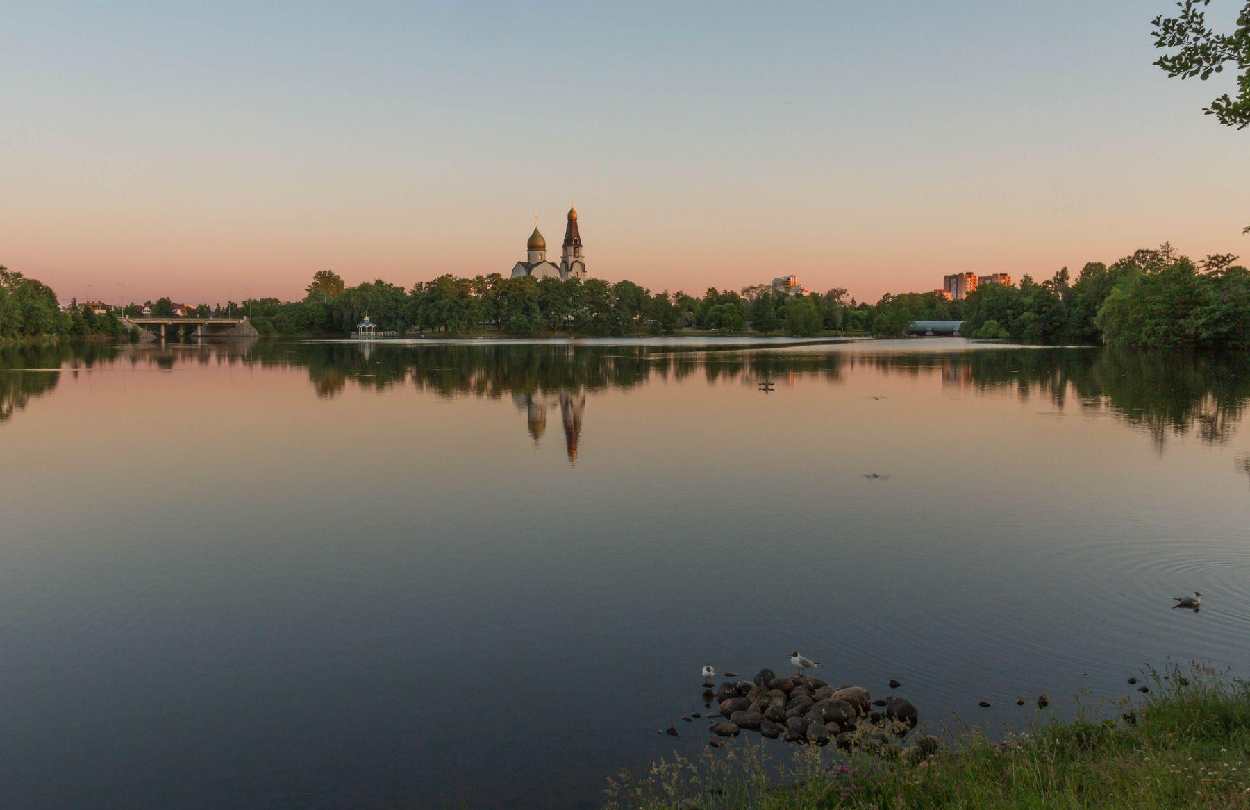 Тихий вечер в Сестрорецке.