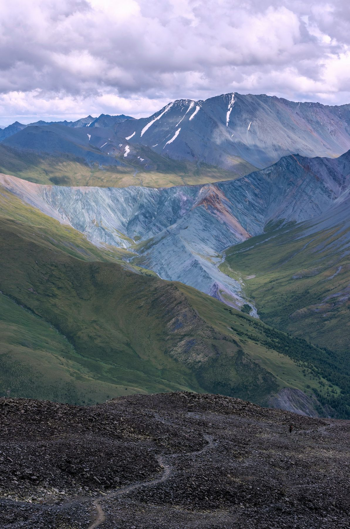 Над долиной Ярлу. горы алтай горный пейзаж природа россия ник васильев красота перевал кара-тюрек долина ярлу эдельвейс рерих облака