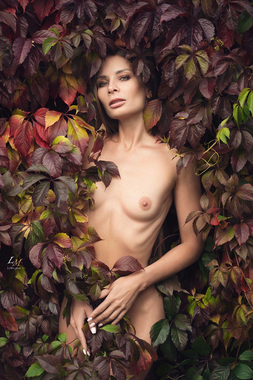Осень ню артню портрет осень артфотограф Москва