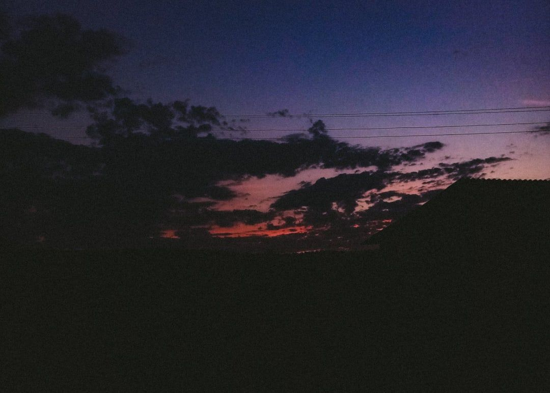 the sunset закат вечер облака