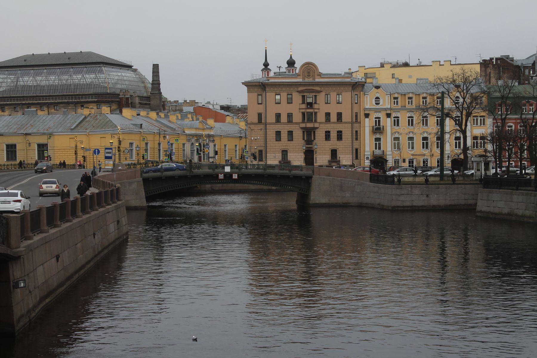 Вид на 1-й Инженерный мост (Санкт-Петербург) Санкт-Петербург