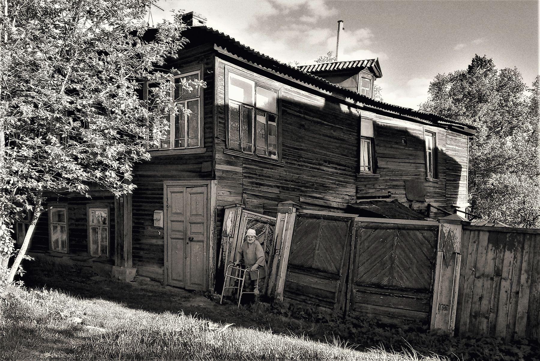 Старый дом в Кинешме дом улица деревня старость городской деревенский пейзаж деревянный бабушка