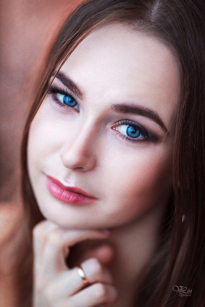 Вероника Девушка Портрет красивая девушка голубые глаза