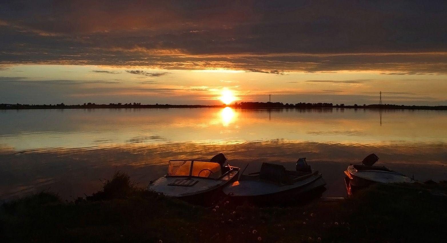 Обской закат Сибирь лето закат пейзаж