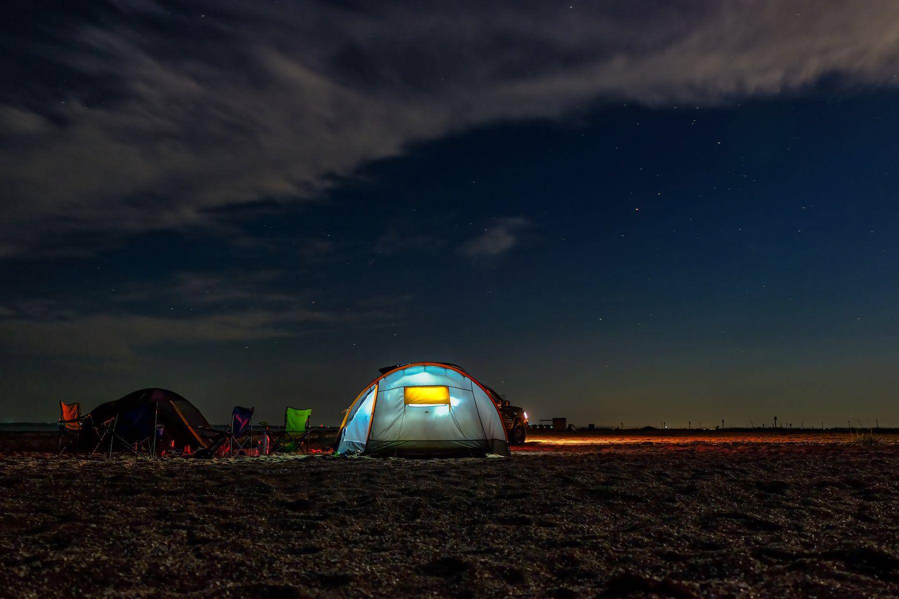 Ночевка на Бакальской Косе