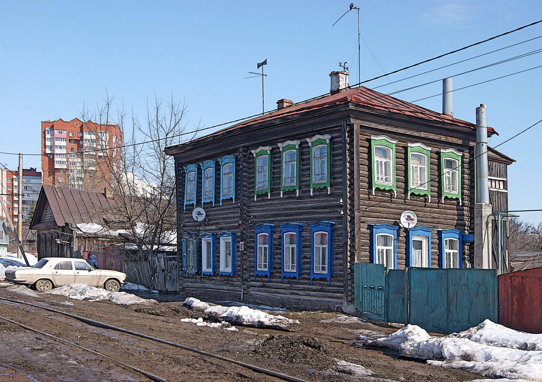 Деревянных улиц островки город улица старый дом