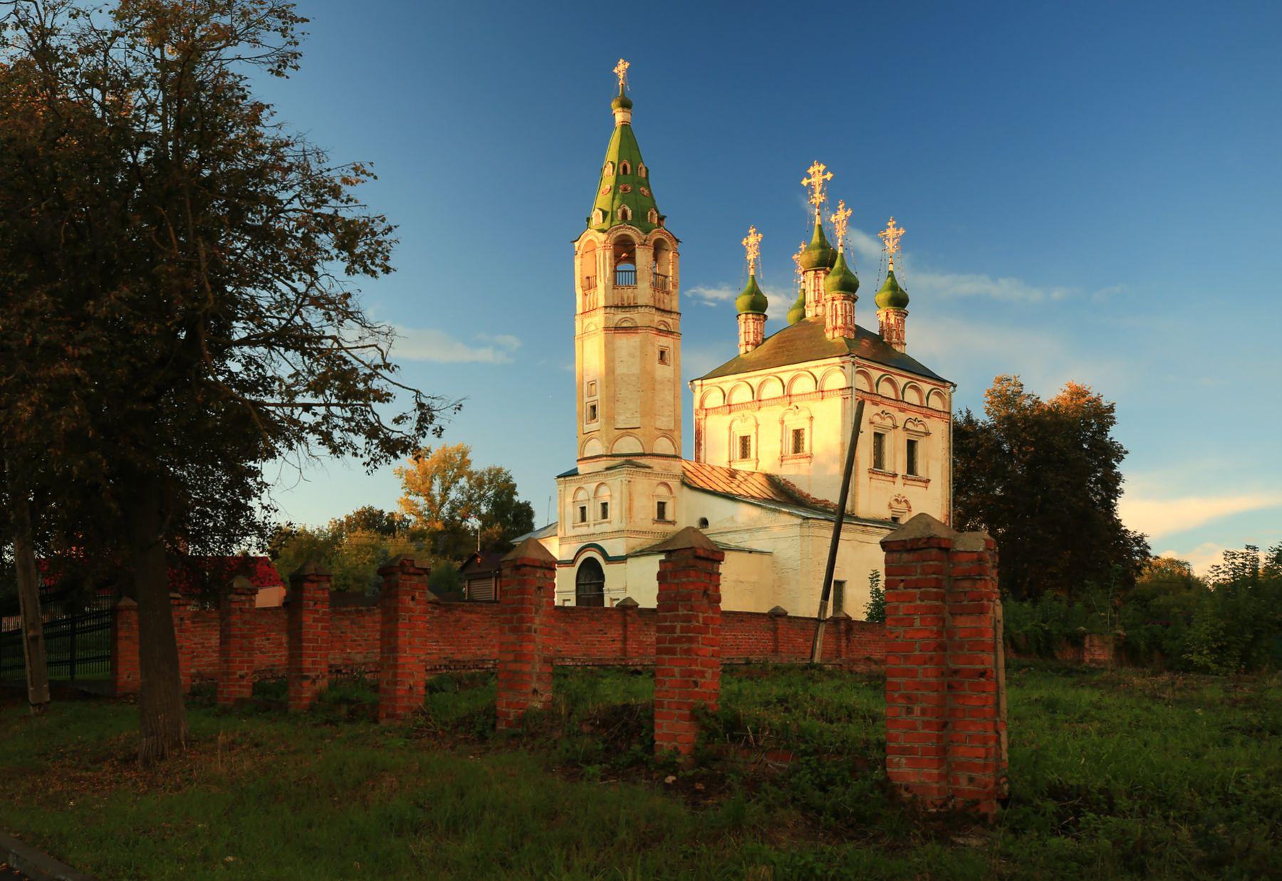 Вечер Серпухов церковь Троицы живоначальной