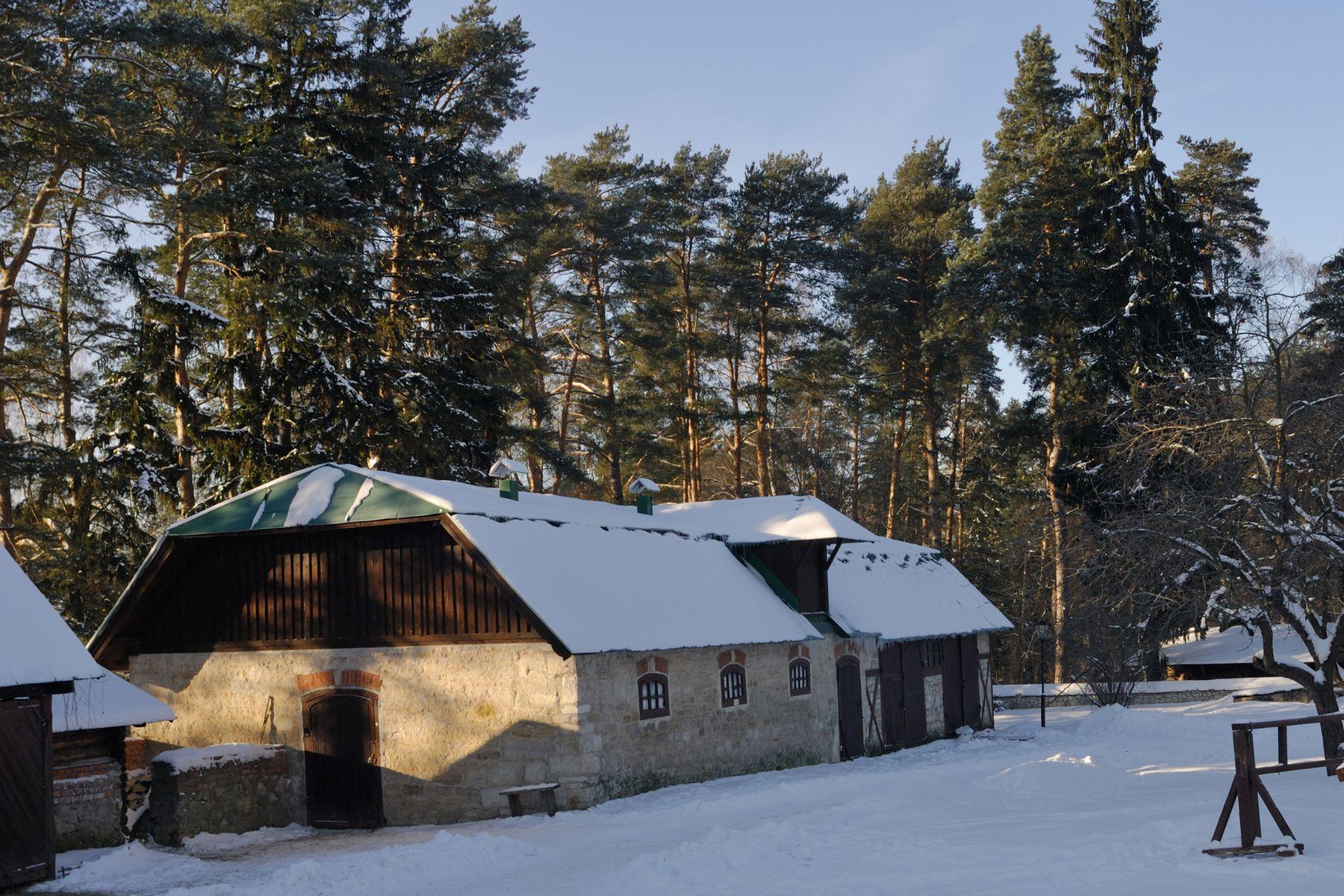 Зимой в Поленово Россия Тульская область Поленово усадьба зима