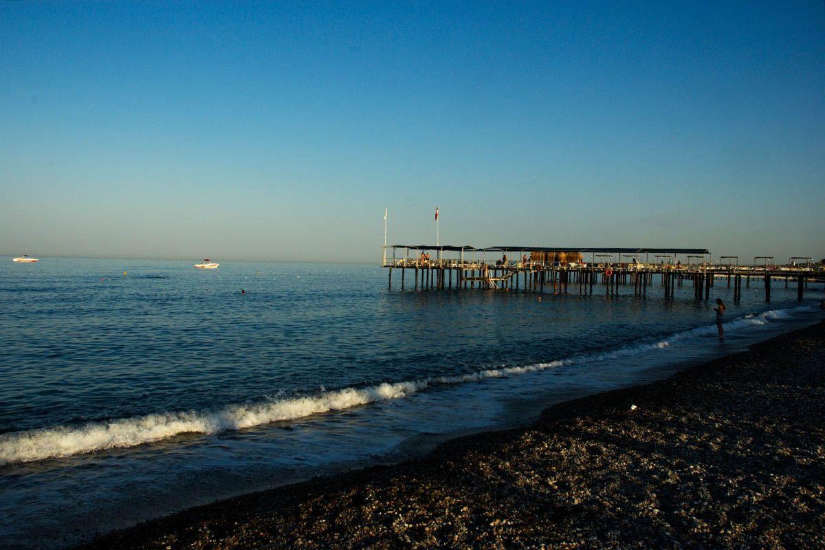 Утро. утро море пирс