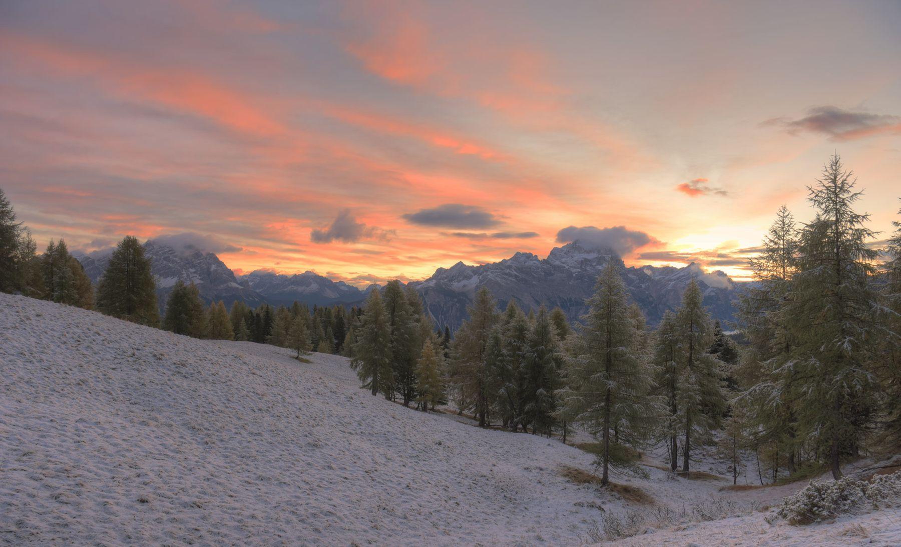 В утреннем свете_7 горы восход небо