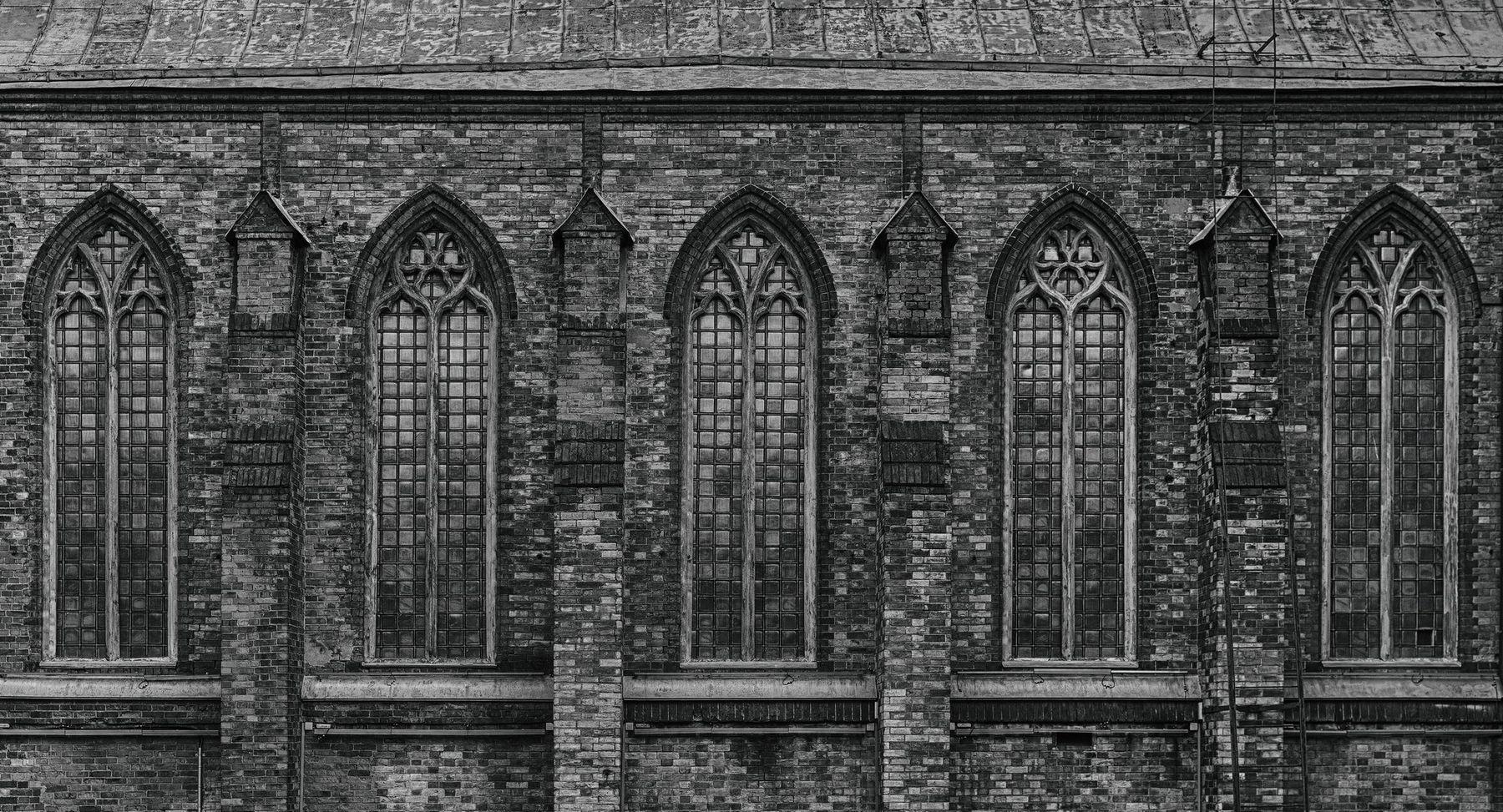 Gothic чб черно-белое храм москва гум готика архитектура