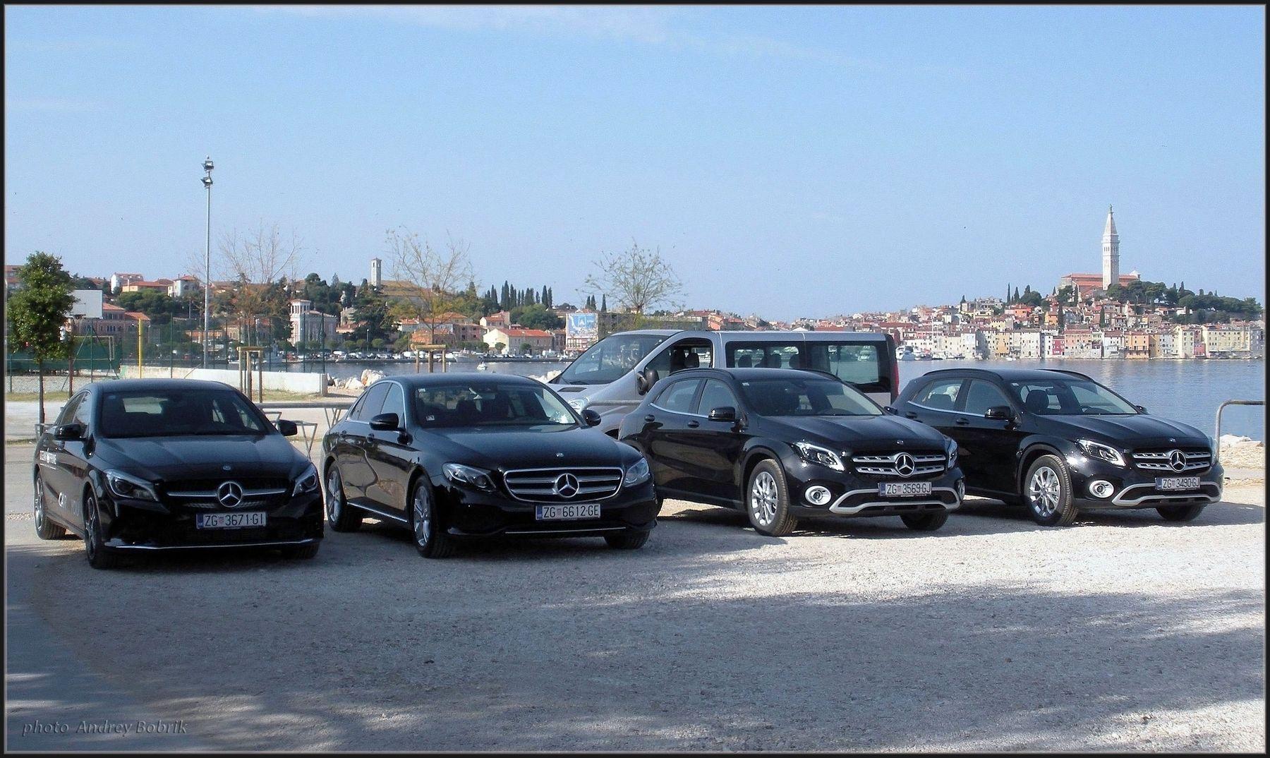 Соображают на четверых... Хорватия Ровинь автомобили Мерседес