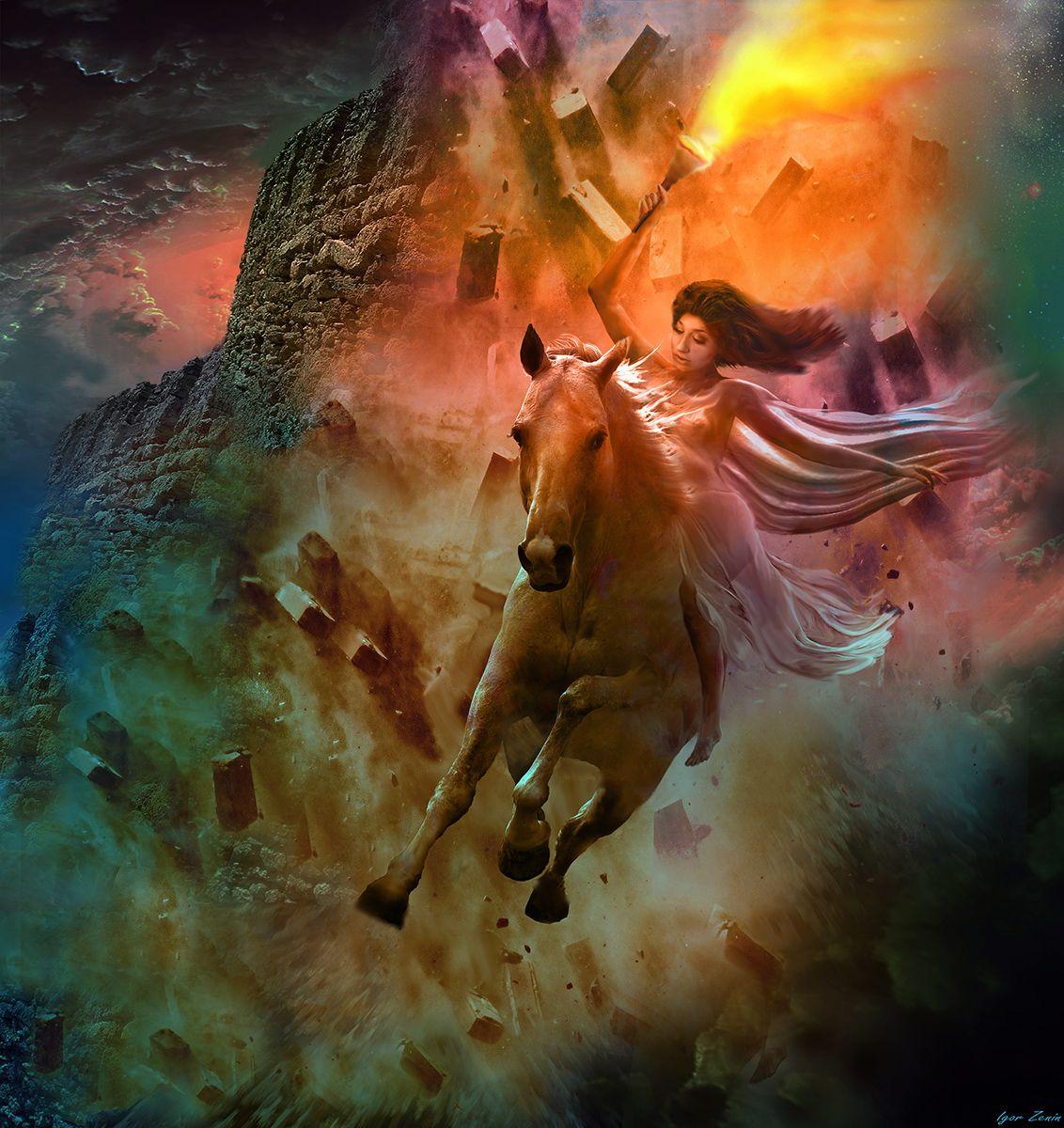 Диана кони нимфа огонь диана