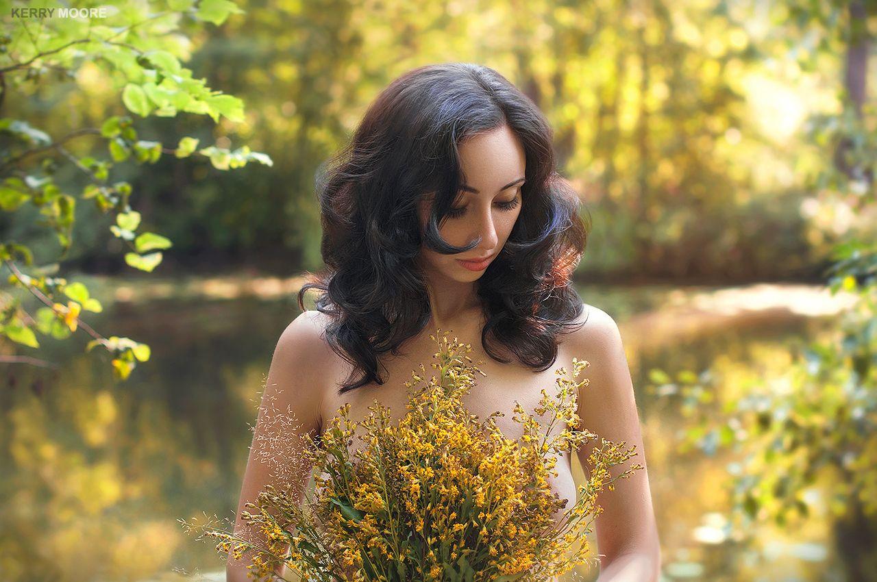 Anna девушка портрет природа цветы лес