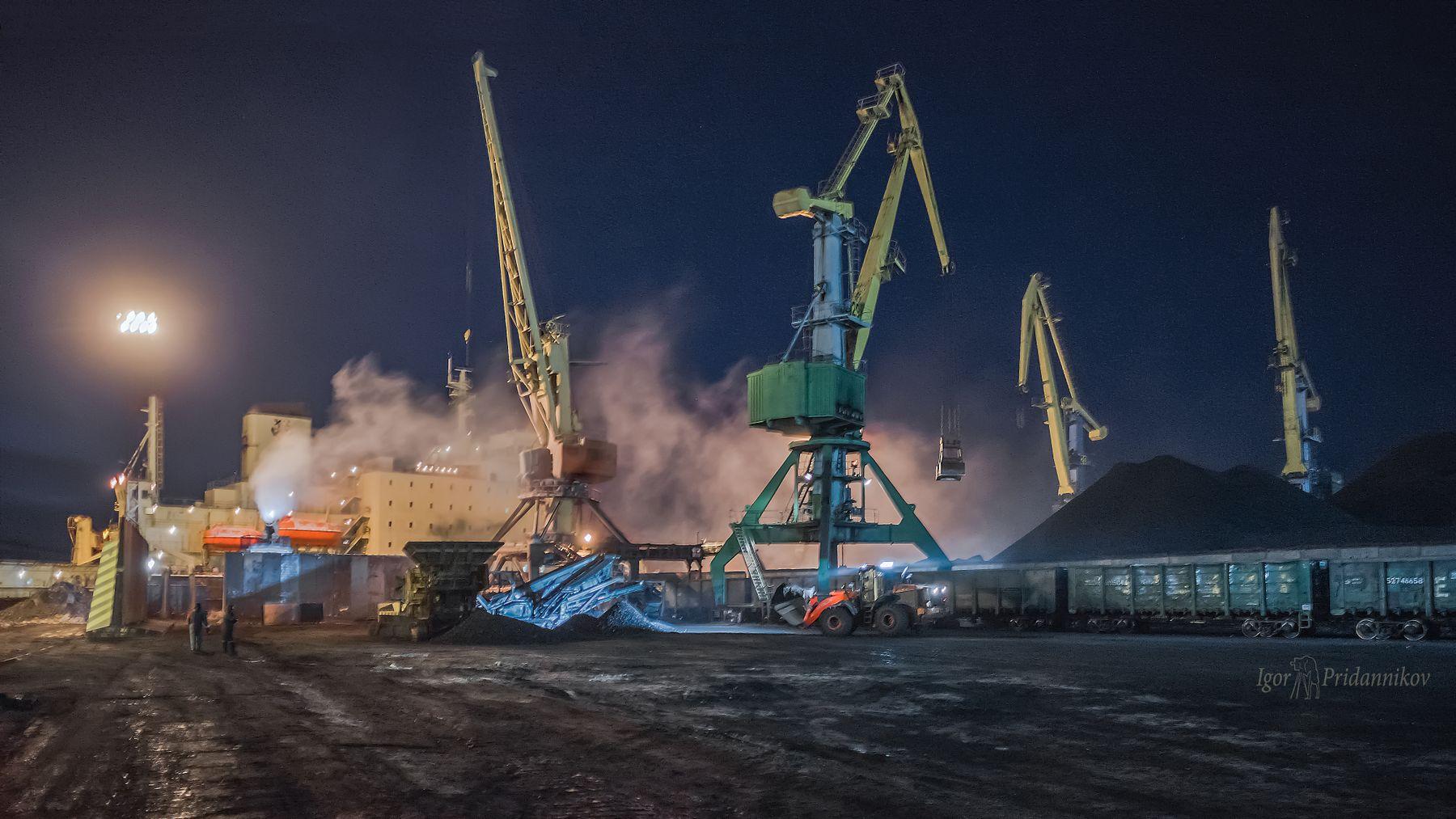 Работа кипит мурманск ночь порт