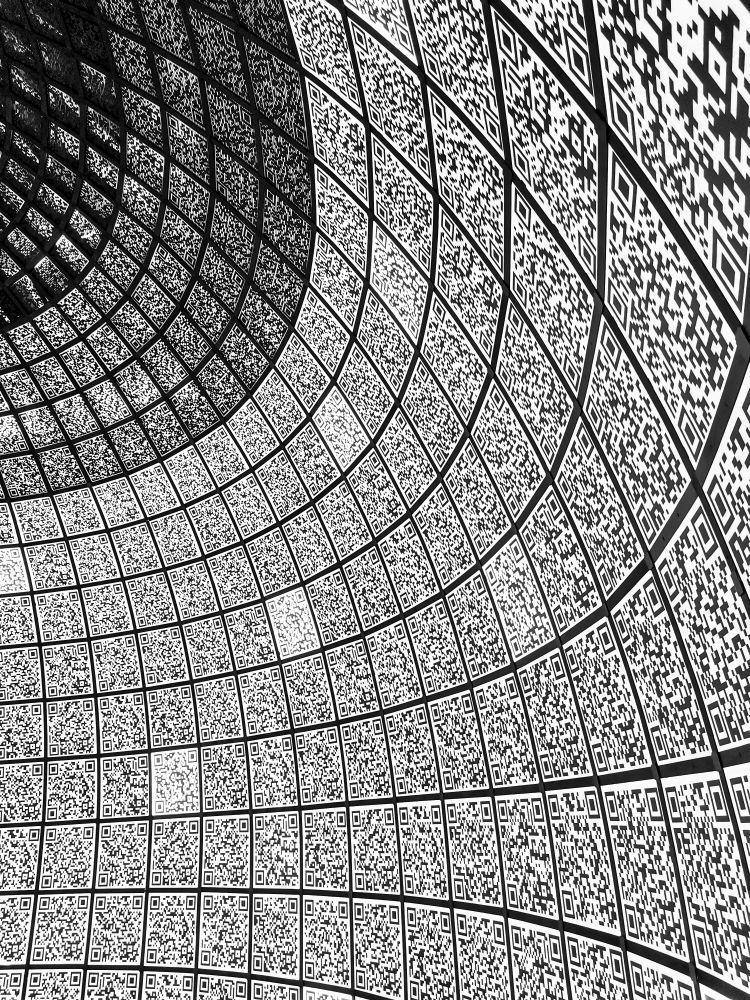 Цифровизация цифровизация QR цифровой мир код коды Россия 2021 дизайн абстракция интерьер геометрия линии квадрат