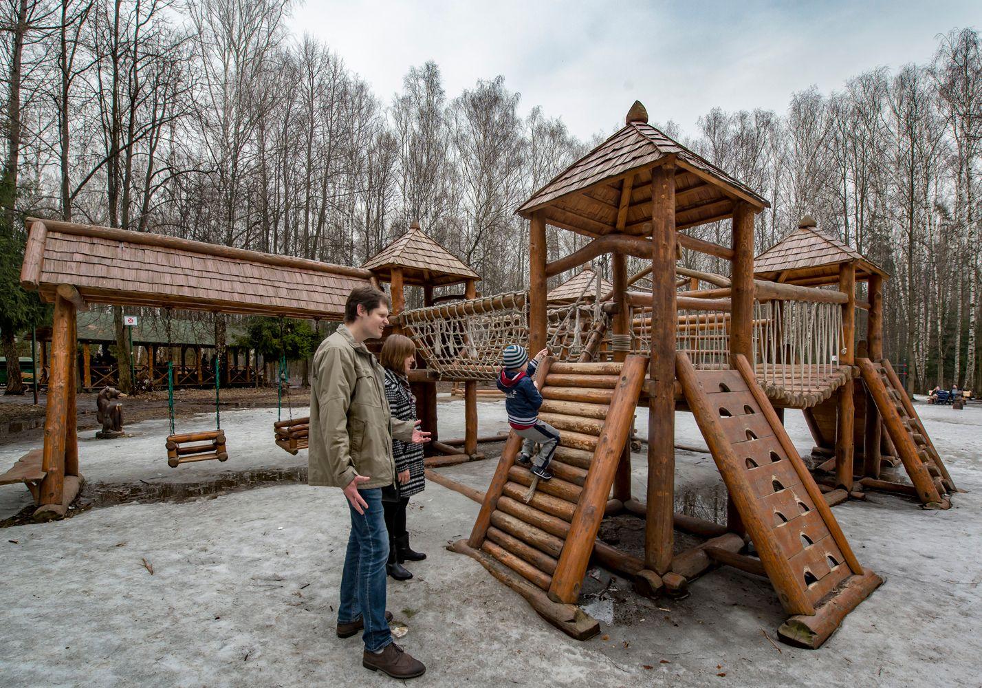Преодоление препятствий... Москва лесопарк Лосиный остров поляна сказок