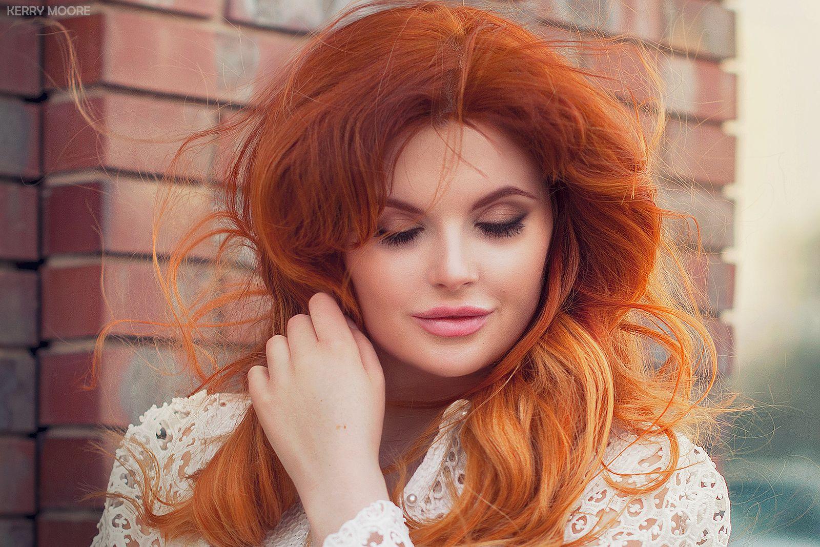 Mira girl portrait model color emotion