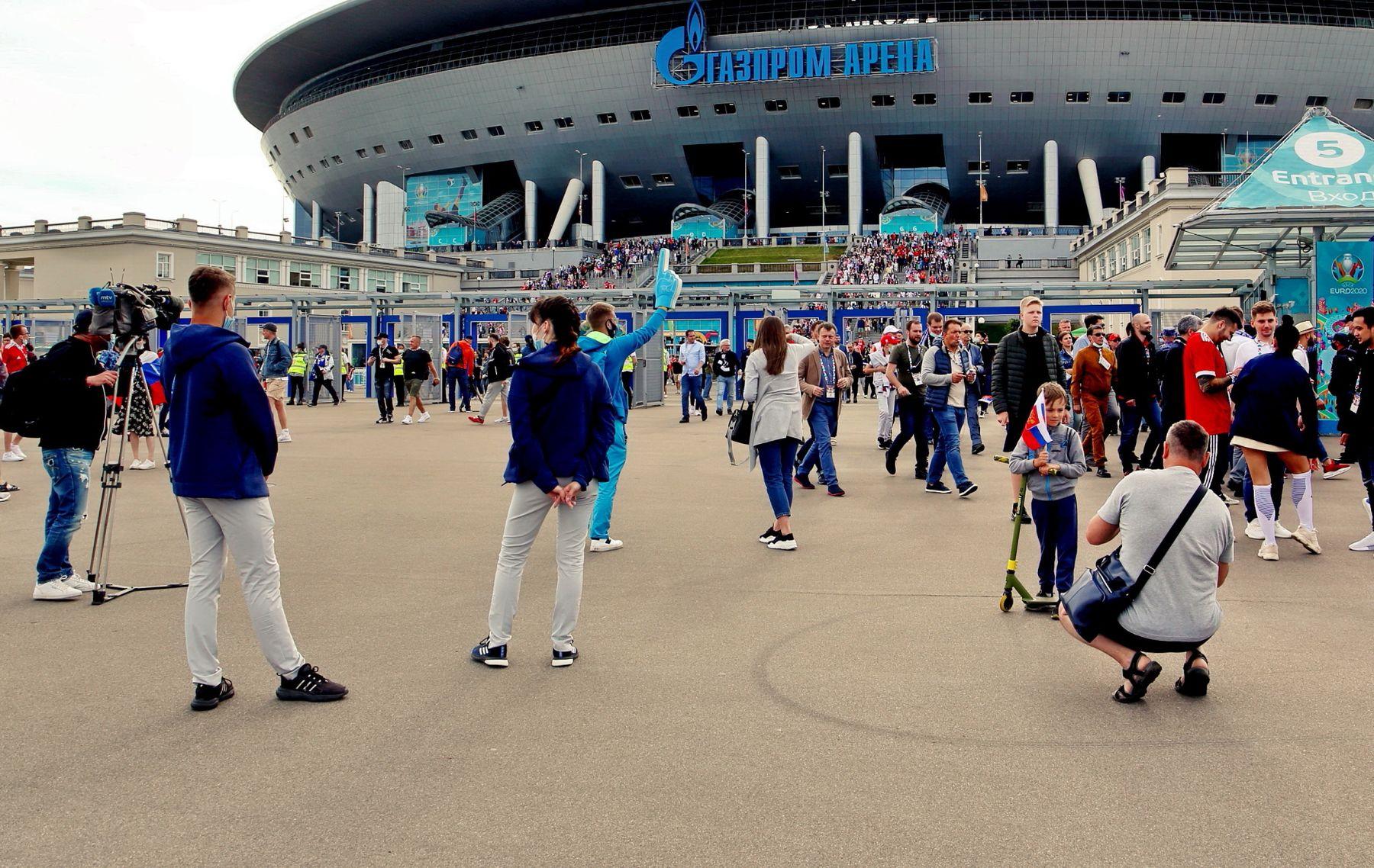 После матча Санкт-Петербург игры Чемпионата Европы по футболу