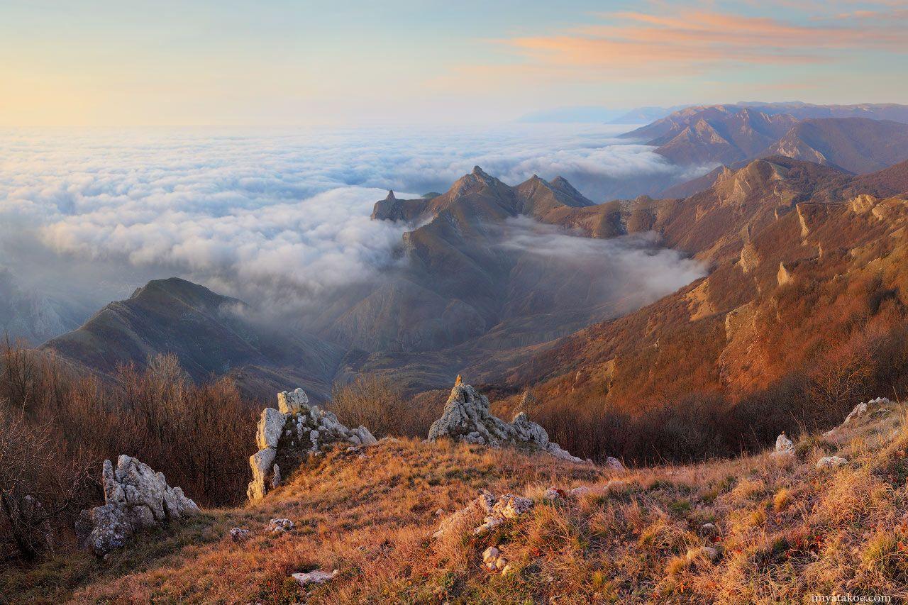 Утро в горах горы Крым рассвет фото Псар ва Михаила