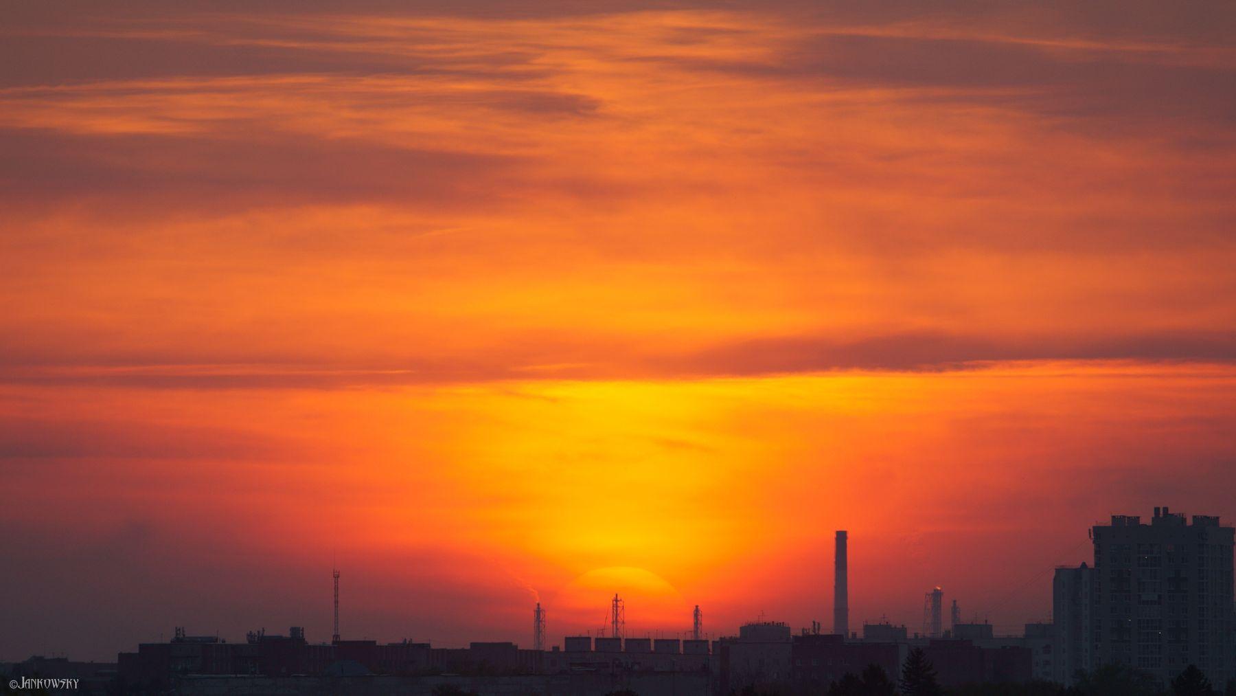 Адовое Пекло 11.05.21  - транзит по факелам нефтезавода омск пекло солнце нефтезавод индустриальный трубы sigma 120-300mm sa