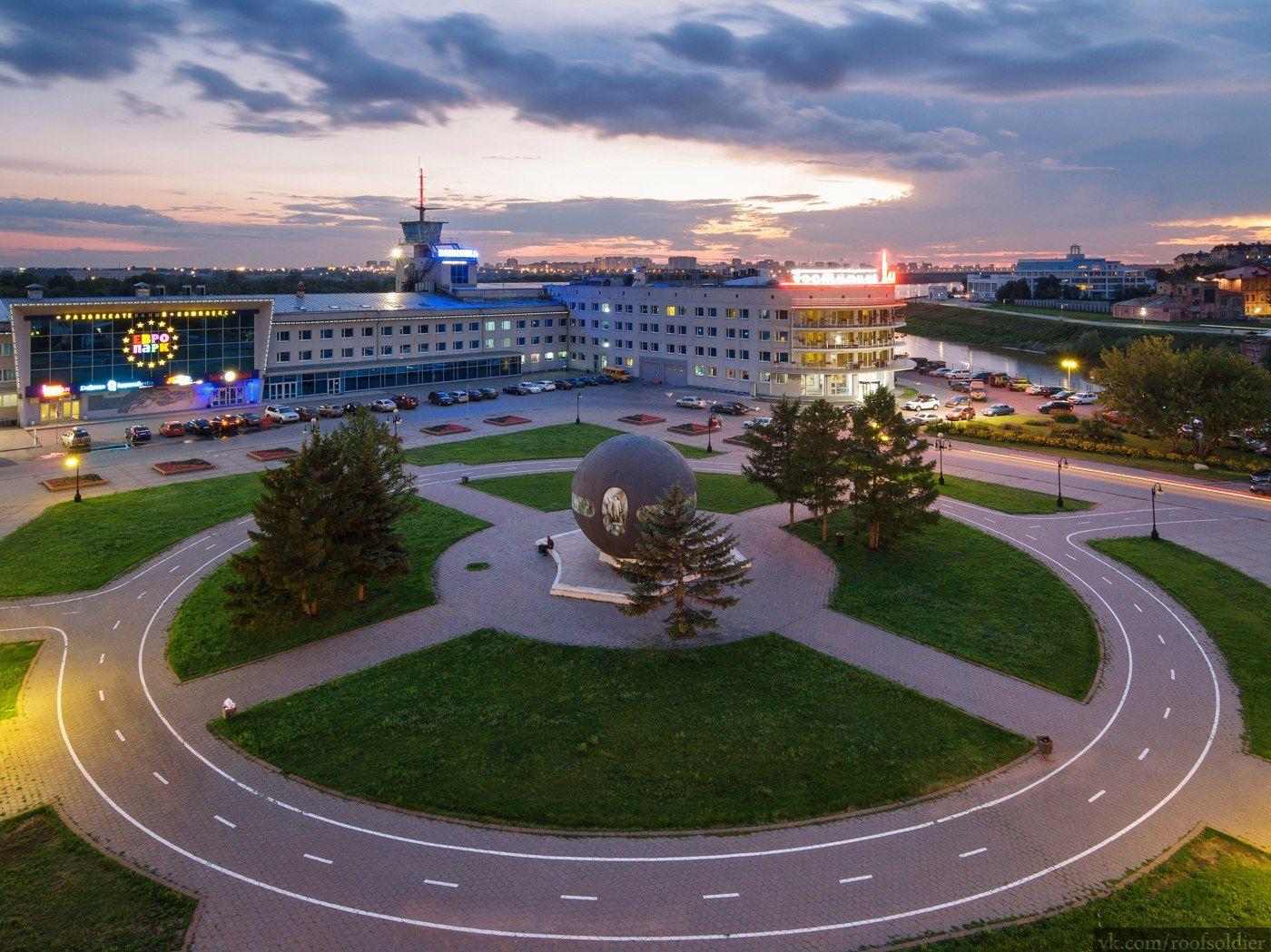 Омск Омск город архитектура провинция регион дорога крыша закат россия велодорожка вид сверху