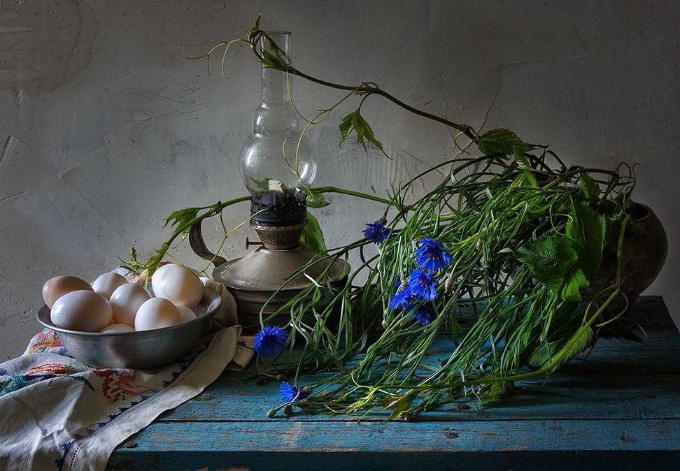 яйца и васильки