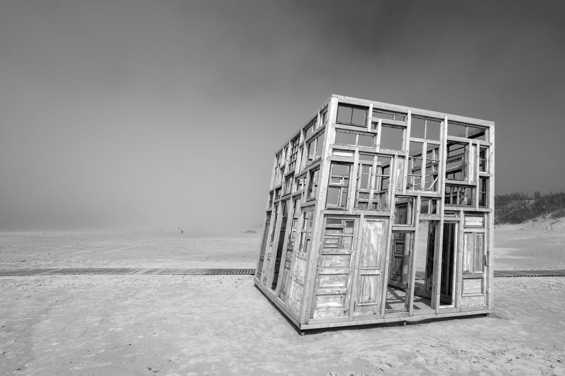 Кубик из двирей и окн. туман кубик окна двери